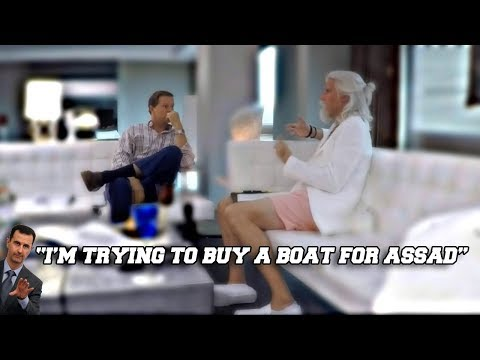 Sacha Baron Cohen As Gio Monaldo | Buying Boat For Bashar Al-Assad? | Who Is America? *WTF*