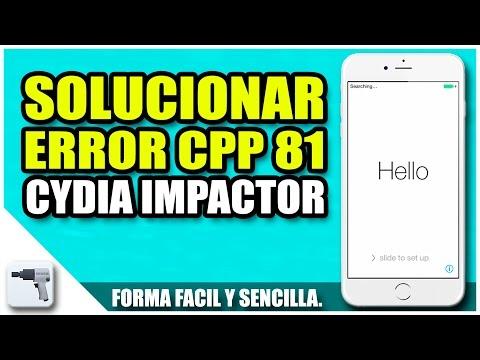 Solución error CPP 81 de Cydia Impactor | Errores Cydia Impactor