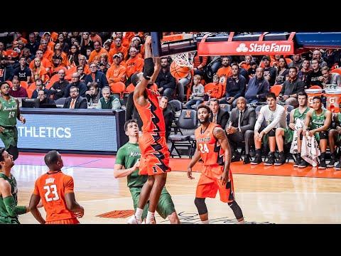 Illinois Basketball Highlights vs Marshall 11/19/17