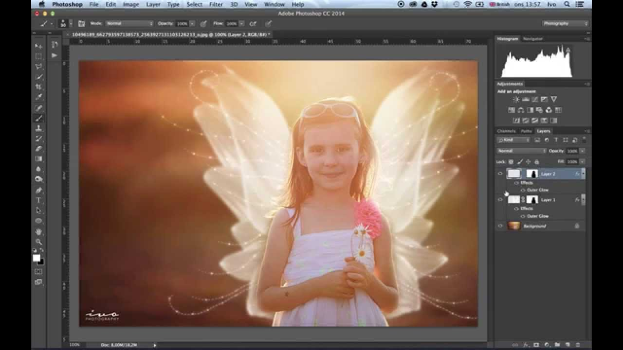 How to Overlay Fairy Wings in Photoshop   Northrup Photo