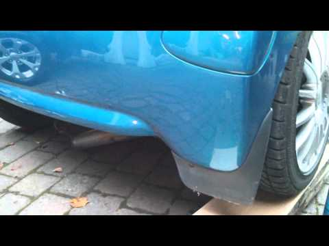 STRAIGHT PIPE AYGO - Exhaust noise with back box removed.
