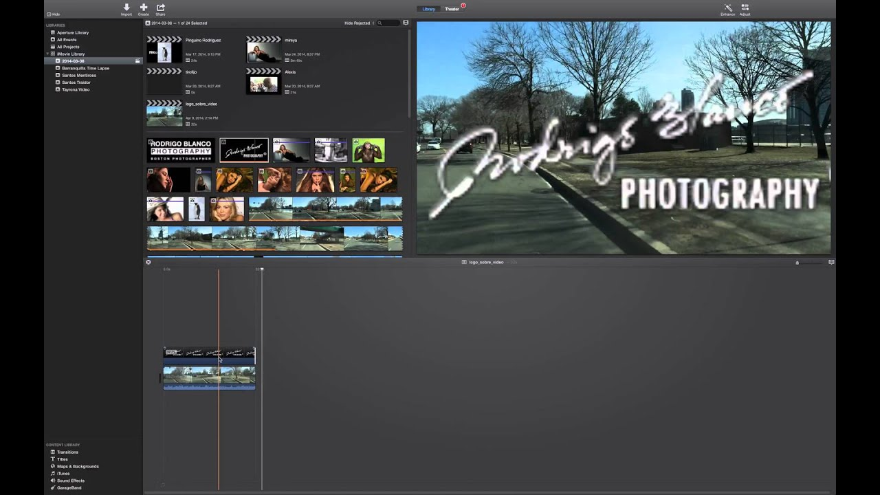 how to add logo to video in imovie