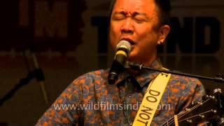 Contemporary musician Alobo Naga live in Delhi