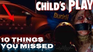 Child's Play (2019) Trailer Breakdown Was First But Even Then I Messed a Few Things. Here Is 10 Things You Missed In The Childs Play Trailer. Childs Play 2019 Is a Horror Remake Of Chucky. Let Me Know Your Reaction To The Child's Play Trailer. Oh Yeah.. WE FOUND HIS VOICE!  Child's Play Teaser Trailer Breakdown: https://youtu.be/BynhCalqUb4  Other Chucky / Child's Play Videos  Child's Play Remake Explained: https://youtu.be/HRu7rveCEqA  Why Chucky Is Now A Robot: https://youtu.be/NQYAjAdW7kg   CHANNEL MERCH: https://teespring.com/stores/3cfilms  ------------------------SOCIAL MEDIA ------------------------  Twitter: https://twitter.com/3CFilmReview Facebook: https://www.facebook.com/groups/2204561206458090/  ------------------------EQUIPMENT I USE IN MY VIDEOS----------------------  Camera: https://amzn.to/2BLWqT2 Microphone: https://amzn.to/2StTzW0 Microphone #2: https://amzn.to/2ViQ5HK Lights: https://amzn.to/2rZ9qjG Computer: https://amzn.to/2BXsgMX  Business Inquiries: 3CFilmReview@Gmail.com  Thank You For Any Support!  DISCLAIMER: This video and description may contain affiliate links, which means that if you click on one of the product links, I'll receive a small commission. This helps support the channel and allows us to continue to make videos like this.