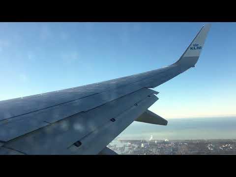 *VERY STEEP APPROACH* | KLM | B737-700 | Warsaw - Amsterdam