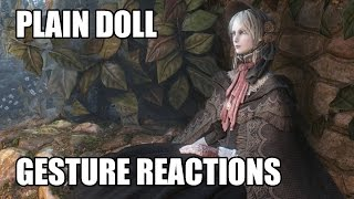 Bloodborne - Plain Doll's gesture reactions