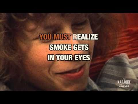 """Smoke Gets In Your Eyes in the style of """"The Platters"""" karaoke video with lyrics (no lead vocal)"""