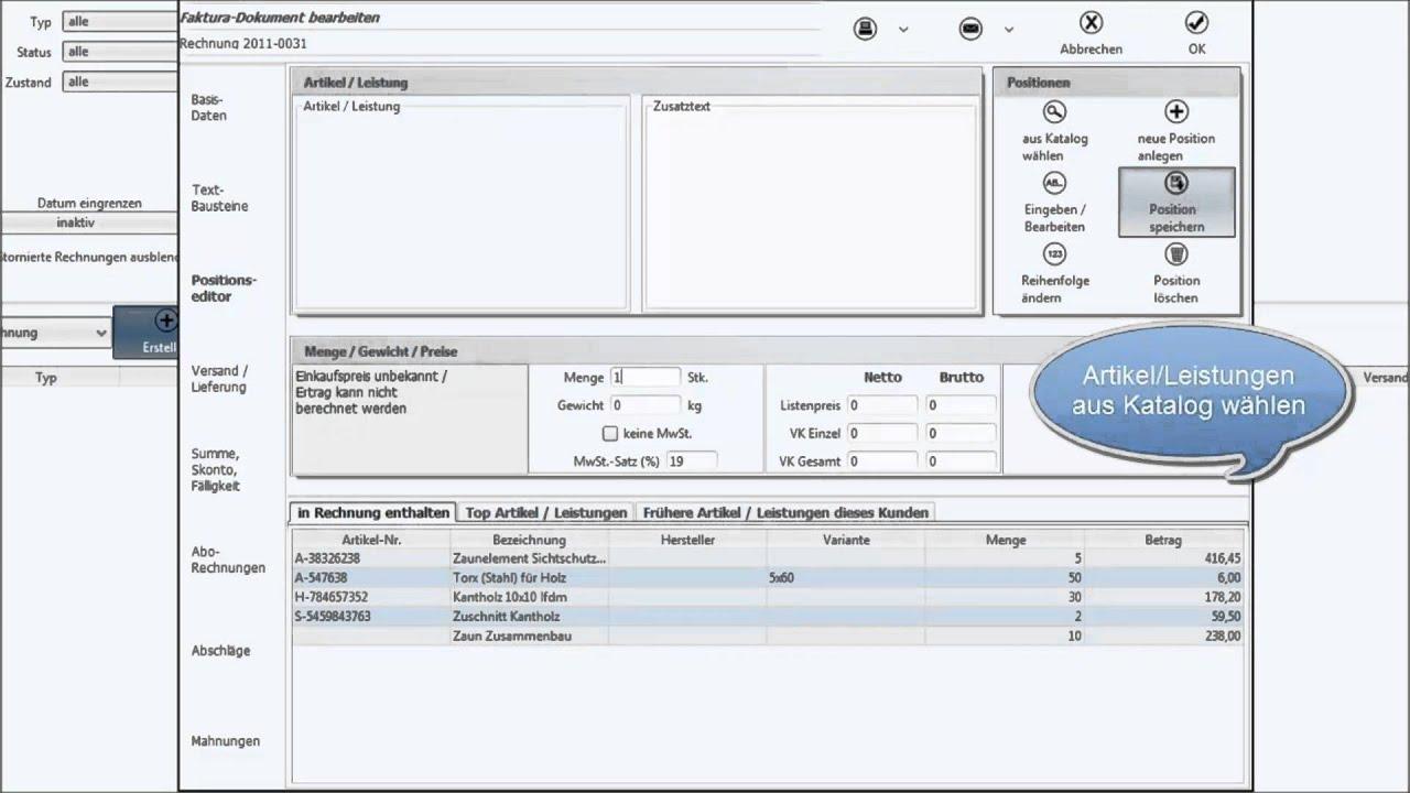 Handwerker Rechnungen Schnell Und Einfach Erstellen Faktura