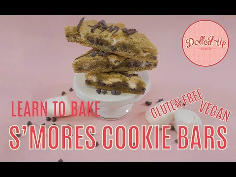 How to Make S'Mores Cookie Bars (vegan and gluten free) Dolled Up Desserts