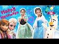 【ハロウィン アナと雪の女王】FROZEN2 マシュマロでオラフの作り方!幼児 仮装。アナ エルサ ディズニー コスプレ Halloween. Make Olaf with marshmallows!