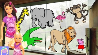 Go To The Zoo With Barbie | Learn Zoo Animal Names | Fun Coloring Page For Kids