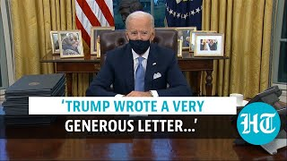 Biden signs series of orders on day 1; talks about Trump's 'generous' letter