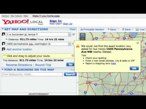 Basic Internet & E-mail Skills : How to Find Driving Directions on Yahoo! Maps