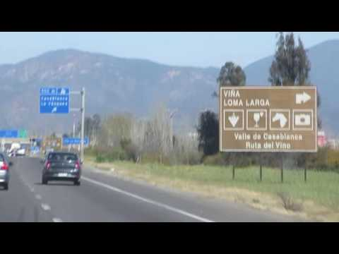Passing Vineyards and beautiful scenery on highway 68 towards Santiago, Chile - October 8, 2016