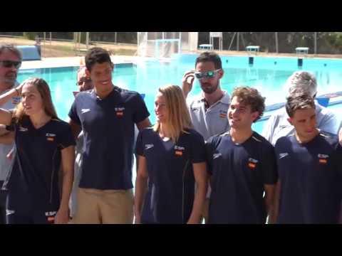 Mundial Budapest 2017 Media Day selección natación