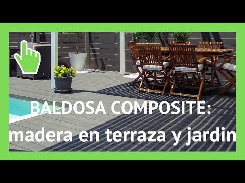Baldosas de madera composite para jardin youtube for Baldosas de jardin