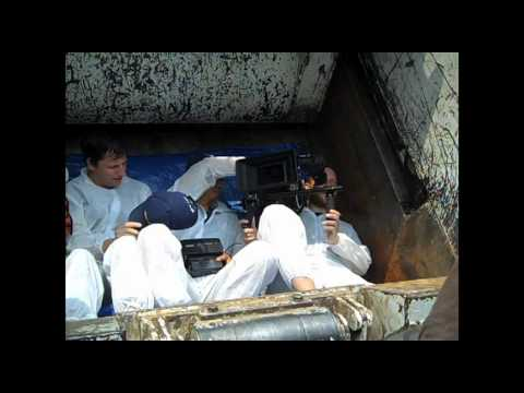 What Does A Trash Compactor Do crew shoots inside trash compactor - youtube