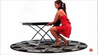 Magicj The Glass Top Coffee Table That Transforms Into A Dining Table