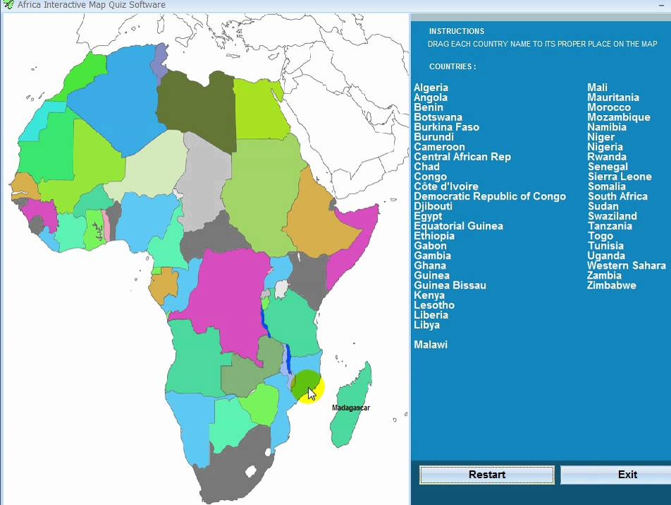 Africa interactive map quiz software youtube gumiabroncs Gallery