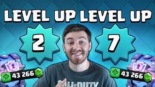 LEVEL 2 TO LEVEL 7 IN 2 MINUTES?! HUGE GEM SPREE! | Clash Royale | OPENING 12 SUPER MAGICAL CHEST!