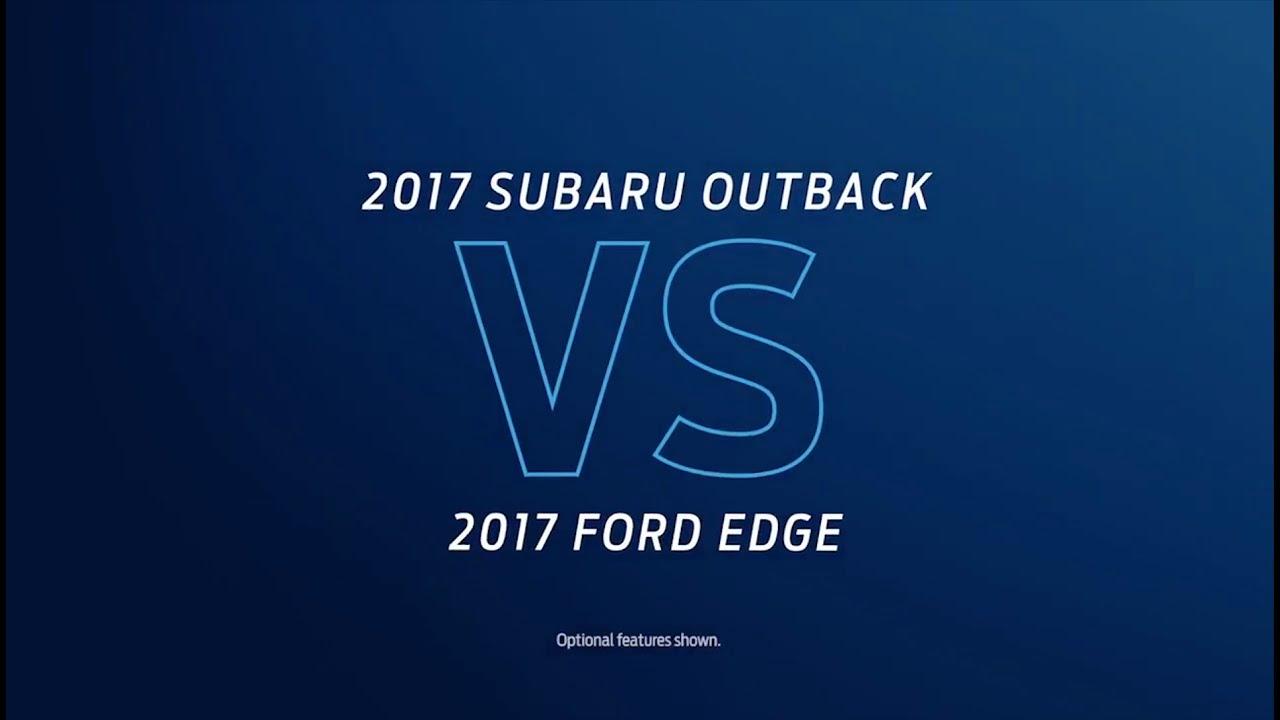 Compare  Subaru Outback Vs  Ford Edge