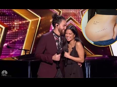 Us The Duo: Singing Couple ❤ Announces PREGNANCY On Judge Cuts | America's Got Talent 2018