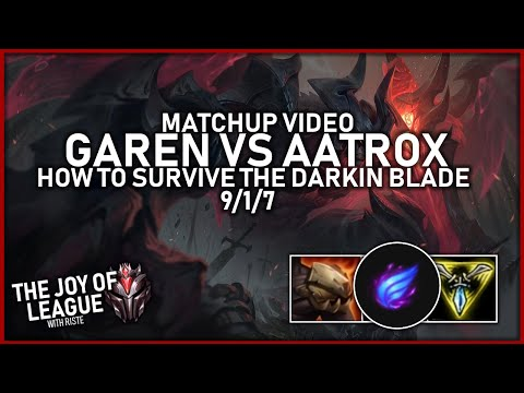 riste - GRANDMASTERS GAREN vs Aatrox | How to survive vs Aatrox! - League of Legends