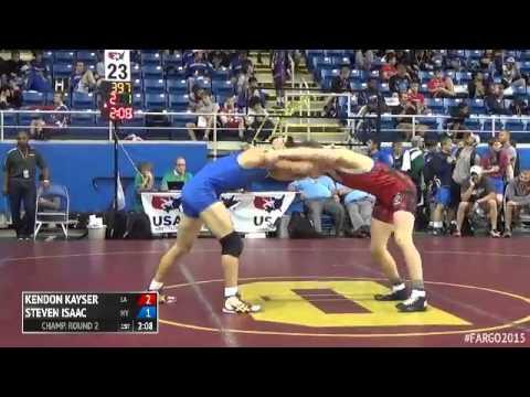 138 Champ. Round 2  Steven Isaac New York vs. Kendon Kayser Louisiana