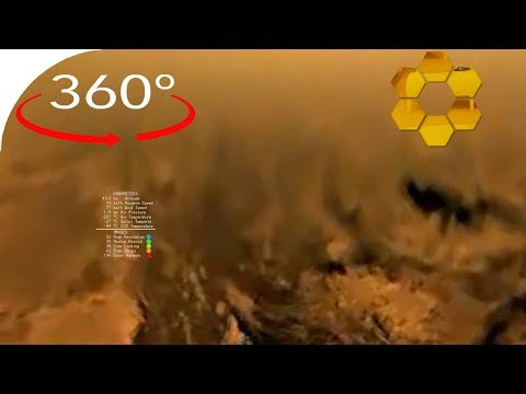 Huygens descent to Titan in 360°