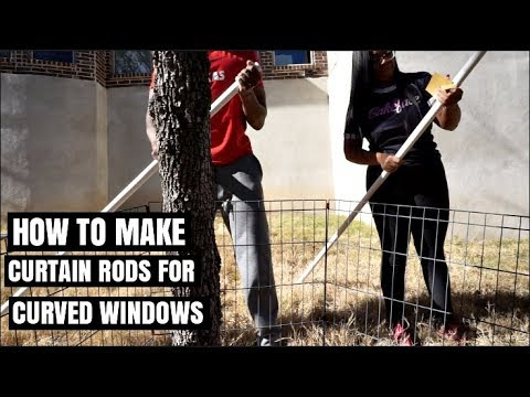 HOW TO MAKE CURTAIN RODS for a CURVED WINDOW