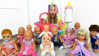 Polina jugando Kindergarten