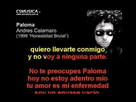 Andres Calamaro - Paloma - Karaoke