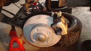 Задние дисковые тормоза на Логан с ABS