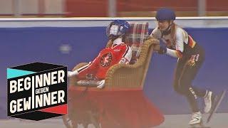 Eisschnelllauf: Anna Seidel und der Schlittstuhl | Beginner gegen Gewinner | ProSieben