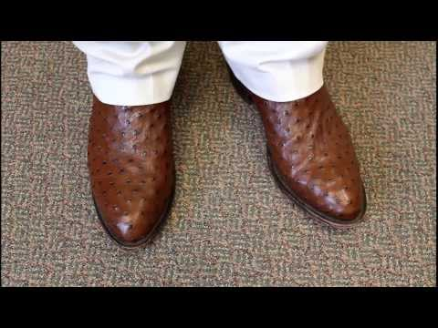 Tobacco Full Quill Ostrich Boots