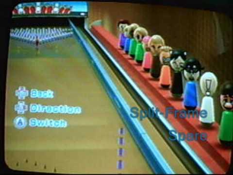 Wii Sports Resort Bowling 100 Pin Game Secret Strike
