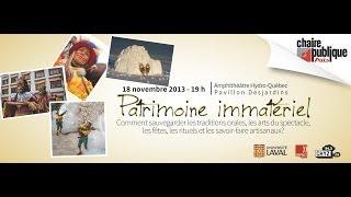 Conférence Chaire publique AELIES - Patrimoine immatériel