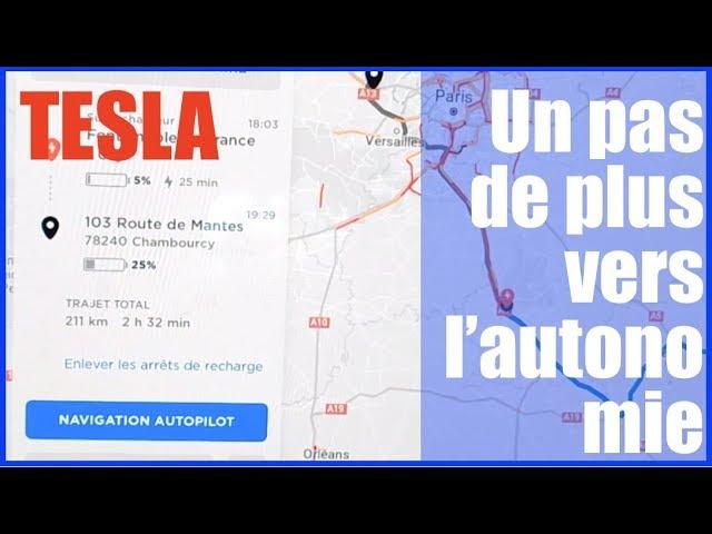 Tesla Model 3 Nouveauté Navigation Autopilot