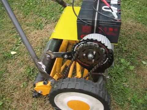 Electric lawn mower. Battery operated. DIY. Handjagare ...