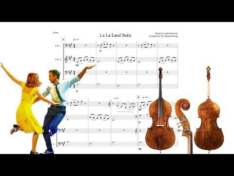 La La Land Suite for Contrabass Quartet (Score)
