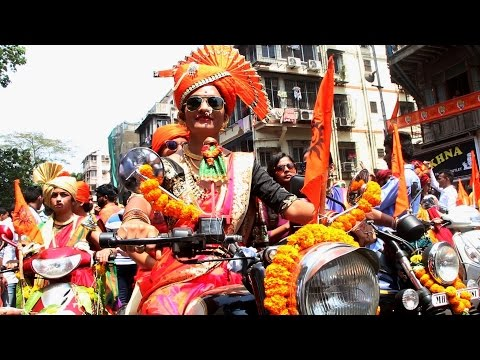 Girgaon Gudi Padwa 2017: Womens Bike Rally, Gudi Padwa Shobha Yatra.