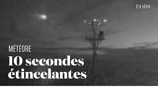 Les images rares d'un météore filmées par un navire australien