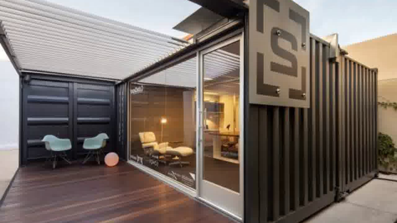 Shipping container modern office youtube - Pros and cons of shipping container homes ...