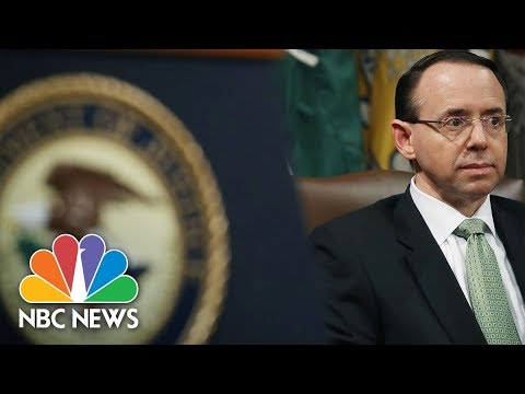 Watch Live: Deputy Attorney General Rod Rosenstein makes law announcement