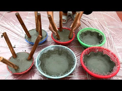 DIY - ❤️ CEMENT CRAFT ❤️ - Making gorgeous potted plants by couldn't be easier at home