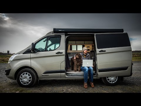 Office Work & Photo Editing on Location | Camper Van