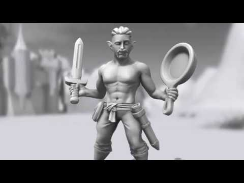 Unboxing my custom Hero Forge miniature - D&D, Dungeons & Dragons, The Bards' Tale