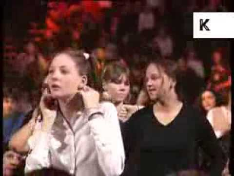 Mid 1990s Teenage Girls in Concert Audience, London, Archive Footage