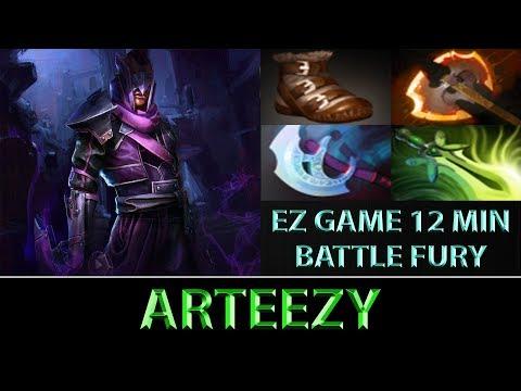 Arteezy [Anti-Mage] EZ 12 Min Battle Fury ► EZ Game ► Dota 2 7.06f