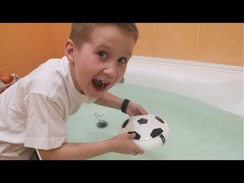 Удержится ли аэро мяч на воде (экспериент)